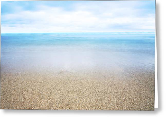 Abstract Beach Landscape Greeting Cards - Surreal Oceanscape Greeting Card by Brandon Tabiolo - Printscapes