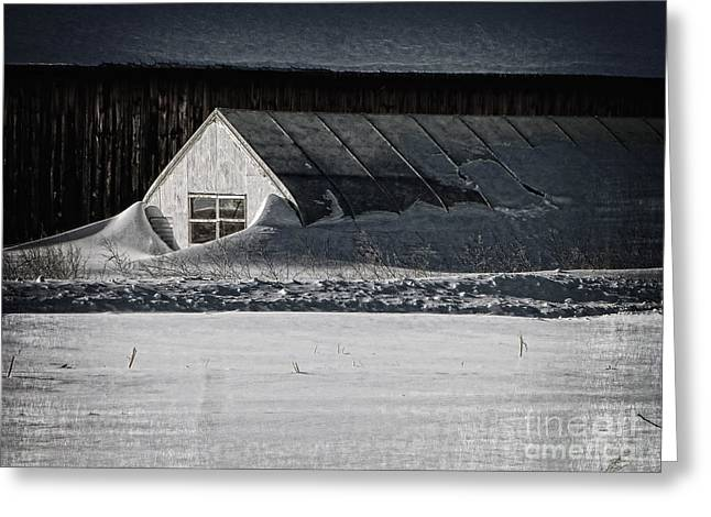 Snow Drifts Digital Art Greeting Cards - Surreal Snow Greeting Card by Dee Flouton