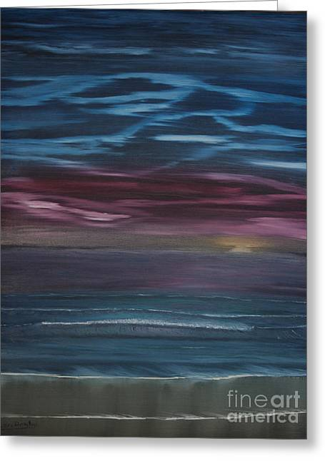 Ian Donley Greeting Cards - Surreal Sunset Greeting Card by Ian Donley