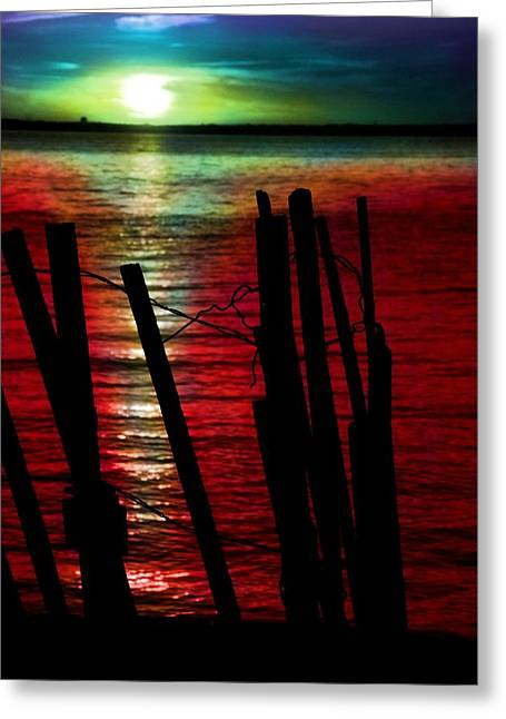Planet Earth Greeting Cards - Surreal Sunset Greeting Card by Marianna Mills