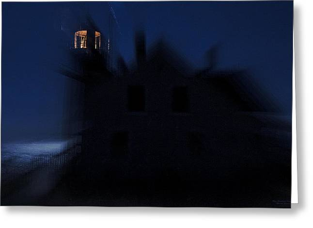 West Quoddy Greeting Cards - Surreal West Quoddy Head Light Greeting Card by Marty Saccone