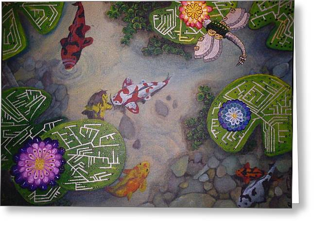 Ying Paintings Greeting Cards - Surrealism Evolutionary Breakdown Greeting Card by Richard Armstrong