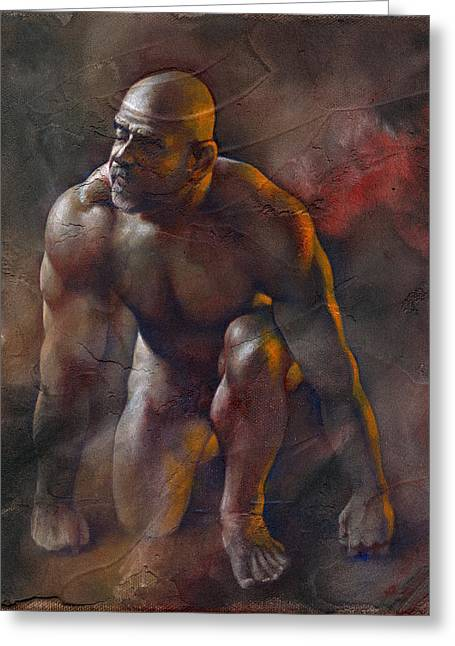 Male Mixed Media Greeting Cards - Surrender Greeting Card by Chris  Lopez