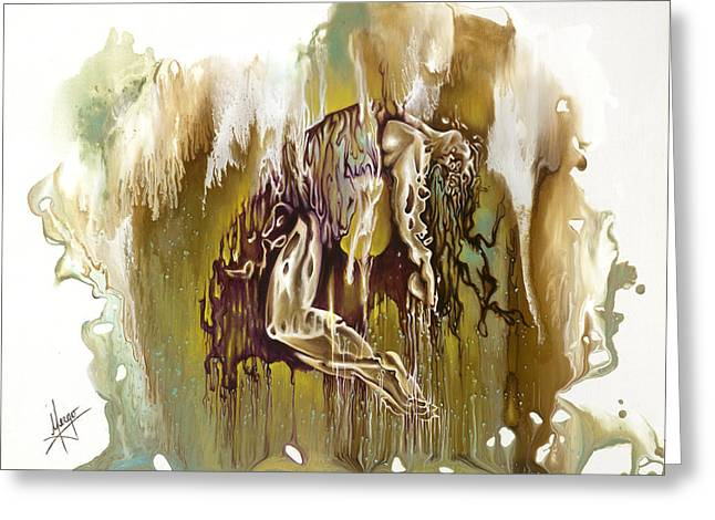 Melting Greeting Cards - Surrender Greeting Card by Karina Llergo Salto