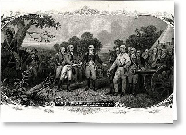 Surrender Of General Burgoyne Greeting Card by Celestial Images