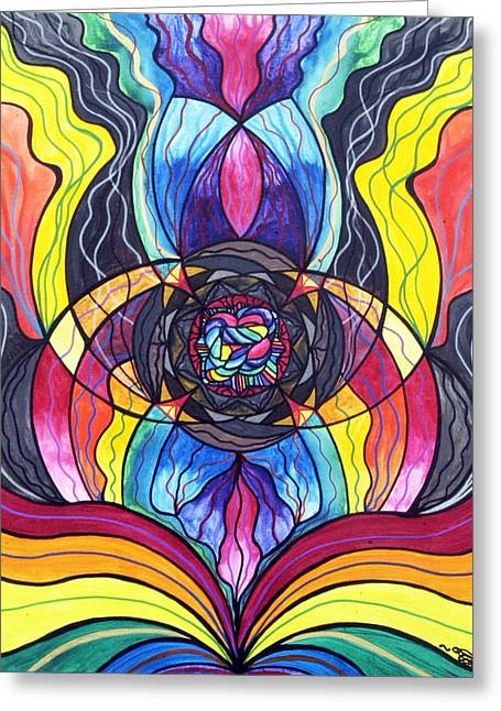 Allopathy Paintings Greeting Cards - Surrender Greeting Card by Teal Eye  Print Store