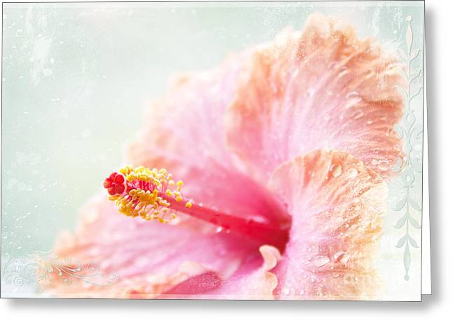Tropical Flowers Of Hawaii Greeting Cards - Surrender To Mystery Is The Highest Optimism  Greeting Card by Sharon Mau