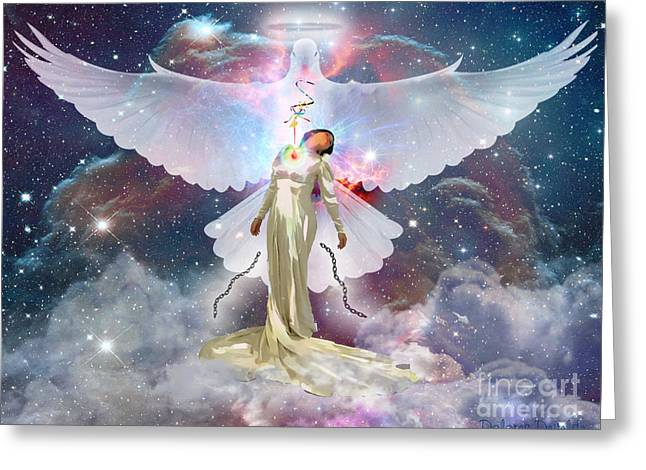 White Digital Art Greeting Cards - Surrendered Bride Greeting Card by Dolores Develde