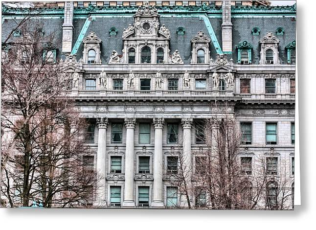 Historical Buildings Greeting Cards - Surrogates Court  Greeting Card by JC Findley