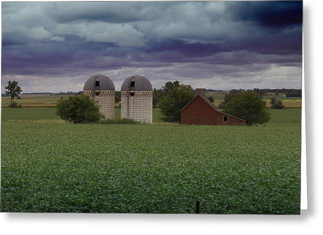 Field. Cloud Greeting Cards - Surrounded by Fields Greeting Card by Rebecca Davis