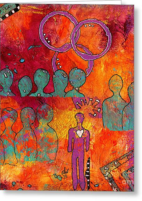 Survivor Art Greeting Cards - Surrounded by LOVE Greeting Card by Angela L Walker