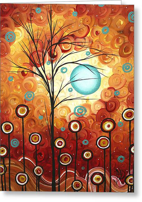 Licensor Greeting Cards - Surrounded by Love by MADART Greeting Card by Megan Duncanson