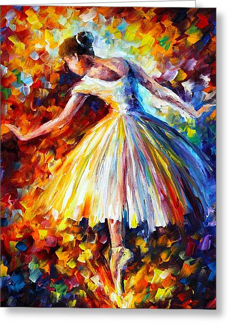 Enjoying Greeting Cards - Surrounded Greeting Card by Leonid Afremov