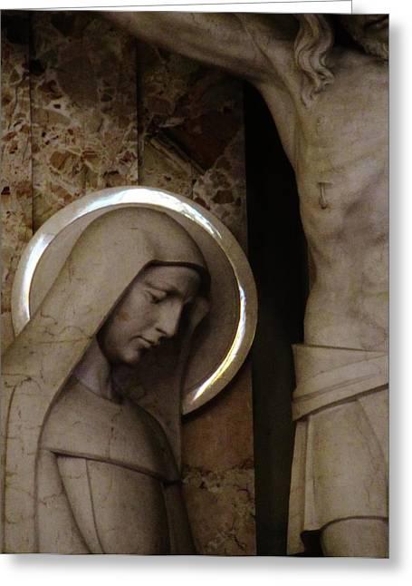 Virgin Mary Greeting Cards - Surroundedbyfaith Greeting Card by Don Teramano