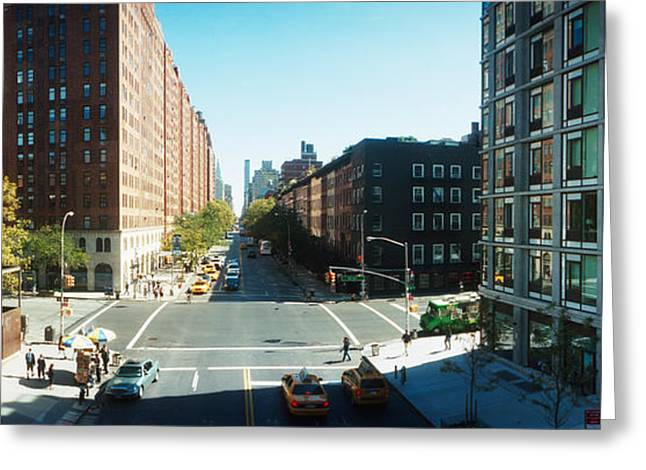 High Line Greeting Cards - Surrounding Streets And Buildings Greeting Card by Panoramic Images