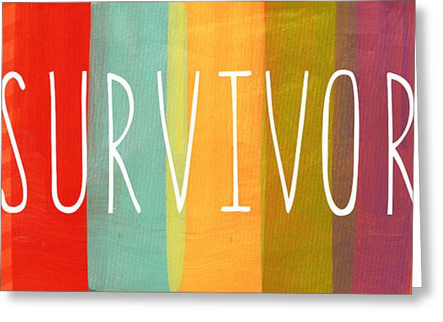 Survivor Greeting Card by Linda Woods