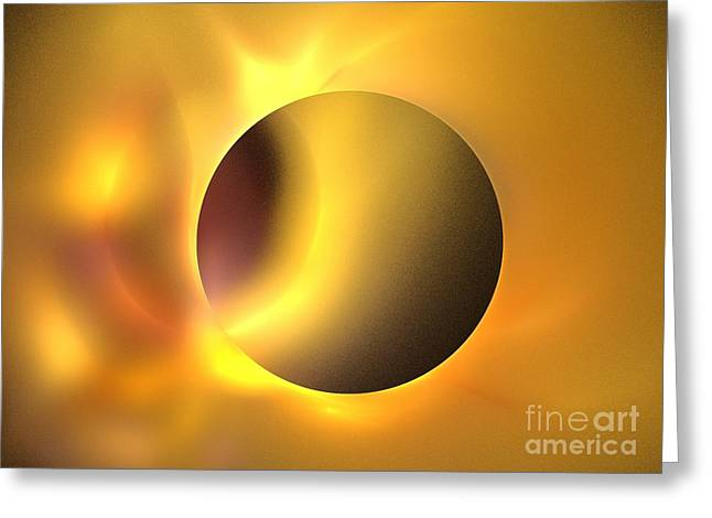 Recently Sold -  - Beige Abstract Greeting Cards - Surya Greeting Card by Kim Sy Ok