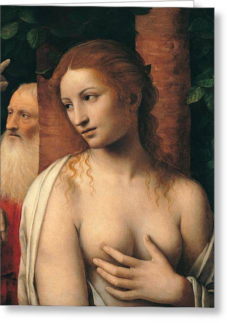 Susanna And The Elders Greeting Cards - Susanna and the Elders Greeting Card by Bernardino Luini