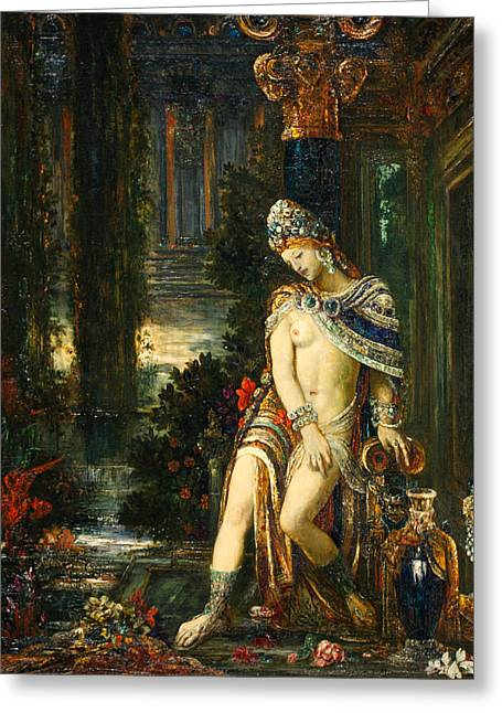 Susanna And The Elders Greeting Cards - Susanna and the Elders Greeting Card by Gustave Moreau