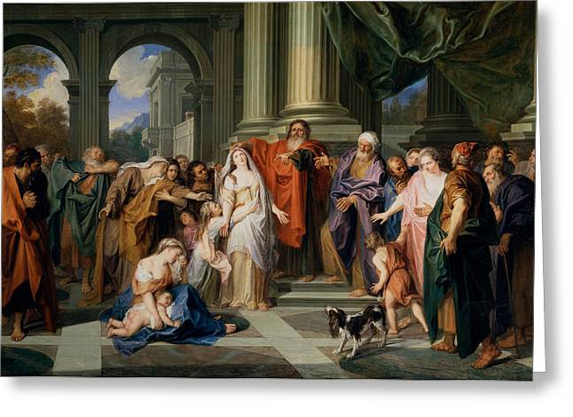 Adultery Greeting Cards - Susannah accused of adultery Greeting Card by Antoine Coypel