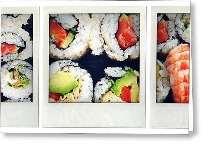 Sushi Greeting Card by Les Cunliffe