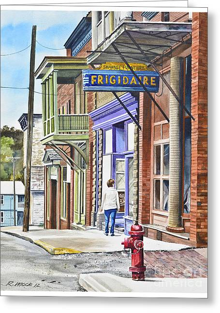 40s Paintings Greeting Cards - Susie in Shawnee Greeting Card by Rick Mock