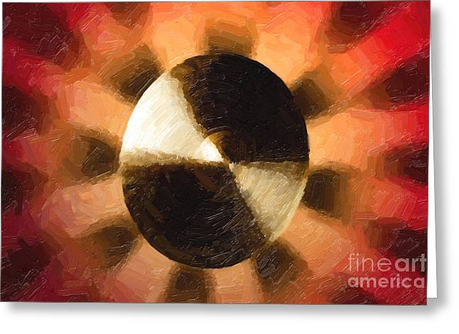 Ride Cymbal Greeting Cards - Suspended or Ride Cymbal Painting in Color 3333.02 Greeting Card by M K  Miller