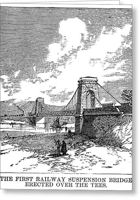 Suspension Bridge, 1830 Greeting Card by Granger