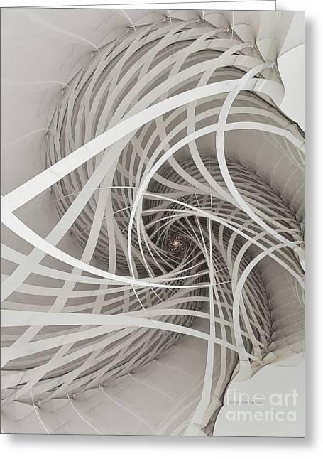 Suspension Bridge-fractal Art Greeting Card by Karin Kuhlmann
