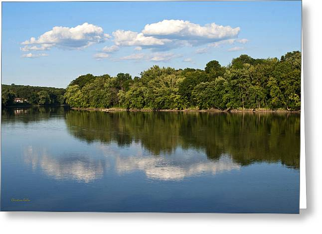 Susquehanna River Greeting Card by Christina Rollo