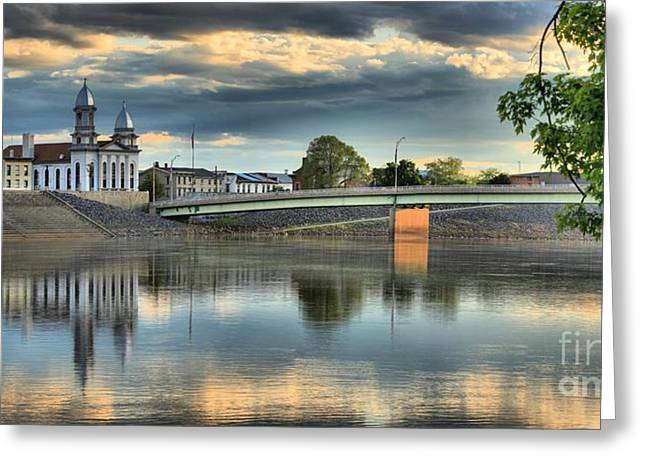 Historic Site Greeting Cards - Susquehanna River Reflections Greeting Card by Adam Jewell