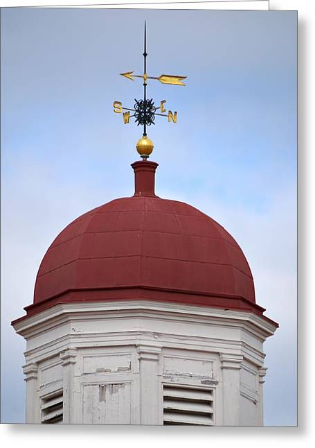 Windvane Greeting Cards - Sussex County Old Courthouse Greeting Card by Steven Richman
