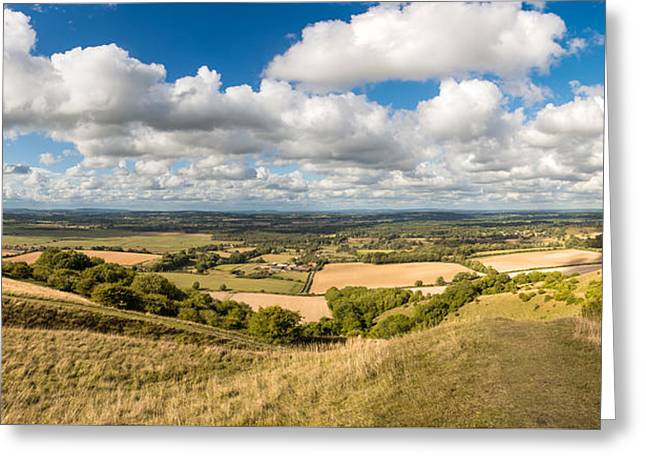 Amberley Greeting Cards - Sussex Weald Sky Greeting Card by Malc McHugh