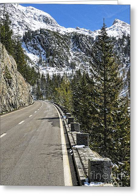 Berne Canton Greeting Cards - Susten Mountain Pass - Switzerland Greeting Card by JH Photo Service