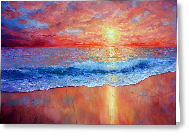 Susurrus At Sunset Greeting Card by Marie Green