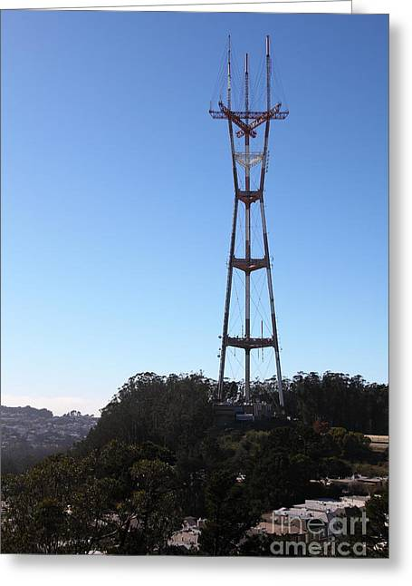 Old Tv Greeting Cards - Sutro Tower San Francisco California 5D28061 Greeting Card by Wingsdomain Art and Photography