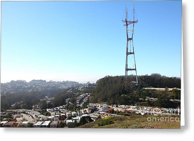 Old Tv Greeting Cards - Sutro Tower San Francisco California 5D28068 Greeting Card by Wingsdomain Art and Photography