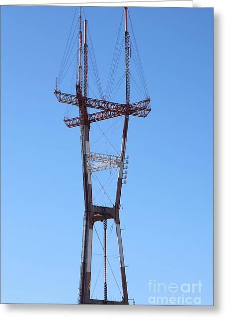 Old Tv Greeting Cards - Sutro Tower San Francisco California 5D28069 Greeting Card by Wingsdomain Art and Photography
