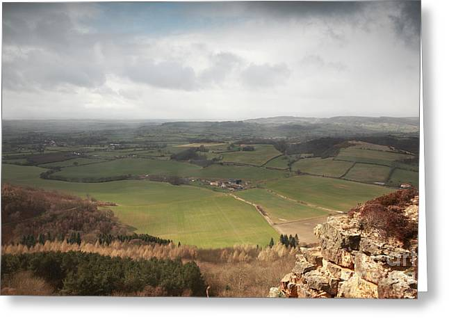 Sutton Farm Greeting Cards - Sutton Bank view Greeting Card by Deborah Benbrook