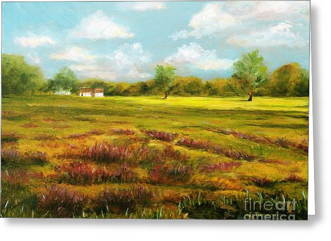 Sutton Farm Greeting Cards - Sutton Road Farm Greeting Card by Cindy Roesinger