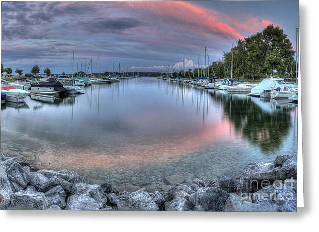 Sutton Greeting Cards - Suttons Bay Marina Greeting Card by Twenty Two North Photography