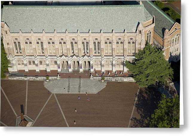Campus Landscape Greeting Cards - Suzallo Library, University Greeting Card by Andrew Buchanan/SLP