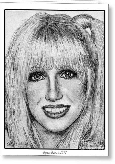 Suzanne Somers In 1977 Greeting Card by J McCombie