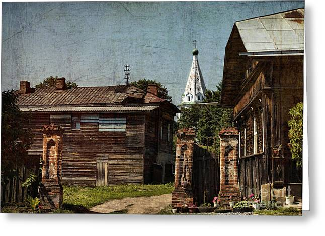 Wooden Building Greeting Cards - Suzdal street Greeting Card by Elena Nosyreva