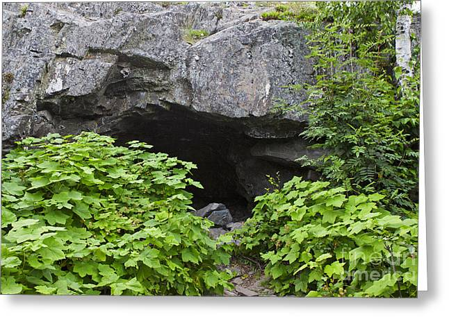 Caves Greeting Cards - Suzys Cave Isle Royale National Park Greeting Card by Jason O Watson