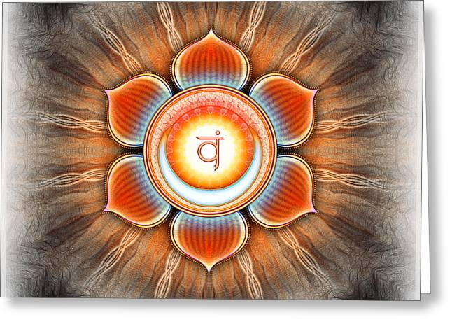 Sacral Greeting Cards - Svadhisthana Chakra Series IV Greeting Card by Dirk Czarnota