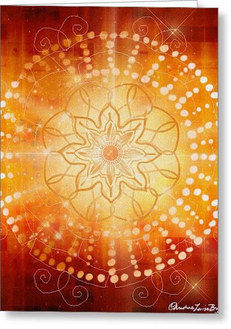 Christine Bryant Digital Art Greeting Cards - Svadishthana - Chakra 2 Greeting Card by Christine Louise Bryant