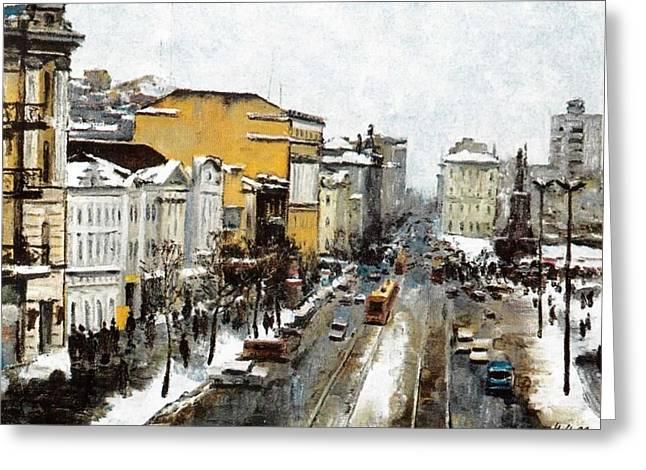 Svetlanskaya Street Vladivostok Greeting Card by Jake Hartz