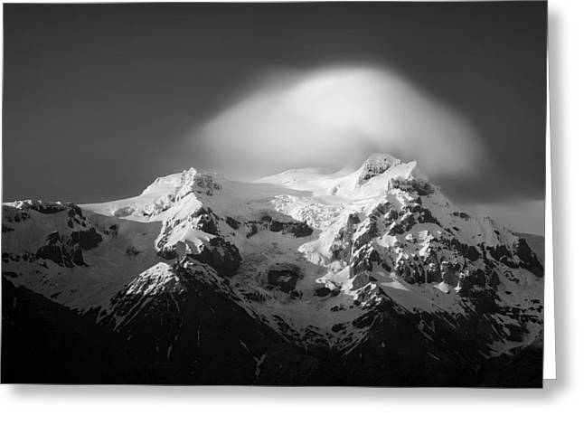Svinafell Mountains Greeting Card by Dave Bowman