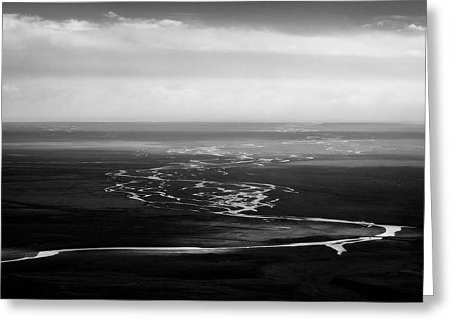Estuary Greeting Cards - Svinafell Rivulets Greeting Card by Dave Bowman